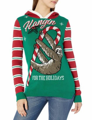 Ugly Christmas Sweater Junior's Hangin for The Holidays Sloth Sweater