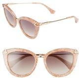 Women's Sonix Melrose 51Mm Cat Eye Sunglasses - Candy Pink/ Brown Fade