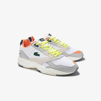 Lacoste Men's Storm 96 LO Textile, Synthetic and Leather Trainers