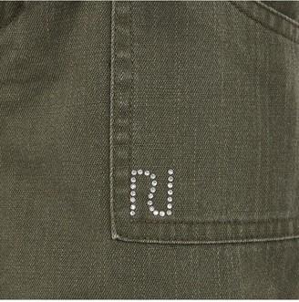 River Island Girls Tie Waist Shorts-Khaki