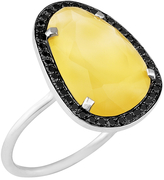 Black Diamond Christina Debs Hard Candy mango agate and ring