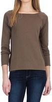 Lilla P Fine Rib Boat Neck Shirt - Pima Cotton, Long Sleeve (For Women)