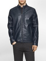 Calvin Klein Classic Fit Faux Leather Moto Jacket