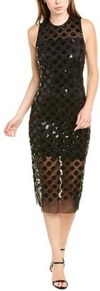 Betsey Johnson Shiny Dot Midi Dress