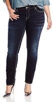 Silver Jeans Women's Plus-Size Suki Mid Rise Slim Cut Jean