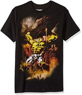 Marvel Men's Hulky Grip Short Sleeve T-Shirt