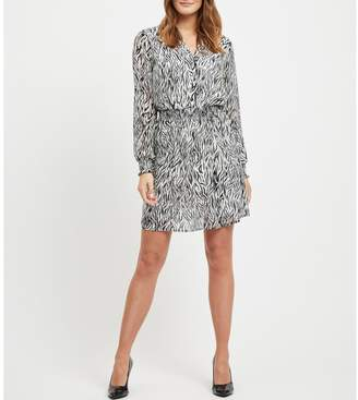 Vila Vinema Zeena Shirt Dress in Zebra Print