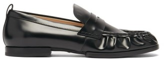 Tod's Gathered Leather Penny Loafers - Black