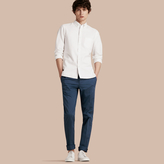 Burberry Slim Fit Stretch Cotton Trousers
