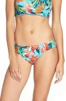 Tommy Bahama Women's Floriana Side Shirred Hipster Bikini Bottoms