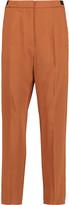 MM6 MAISON MARGIELA Crepe de chine straight-leg pants