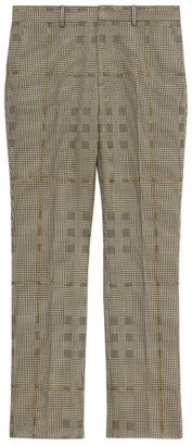 Burberry Metallic Check Tailored Trousers