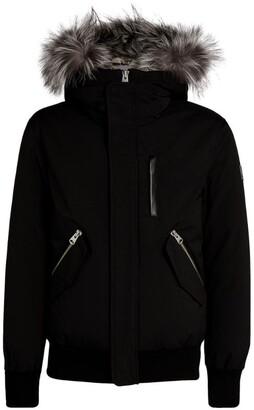 Mackage Silver Fox Fur-Trim Dixon Bomber Jacket
