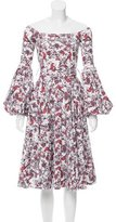 Caroline Constas Printed Off-The-Shoulder Dress