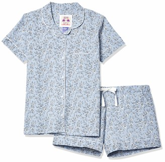 Bottoms Out Women's Short Sleeve & Short Pant Chambray Sleep Set