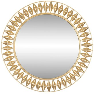 Varaluz Forever 33-inch French Gold Round Mirror