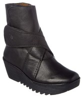 Fly London Rada Leather Wedge Bootie.