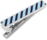 Ox and Bull Trading Co. Varsity Stripes Tonal Blue Tie Clip