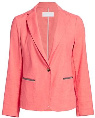 Fabiana Filippi Embellished Pocket Linen Jacket