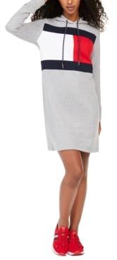 Tommy Hilfiger Logo Hoodie Sweatshirt Dress