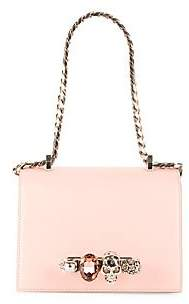Alexander McQueen Women's Small Jeweled Leather Satchel