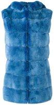 Liska - hooded mink fur gilet - women - Silk/Mink Fur - S