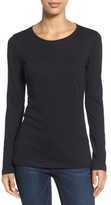 Caslon Petite Women's Long Sleeve Crewneck Tee