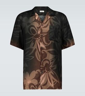 Dries Van Noten Dip-dye short-sleeved shirt