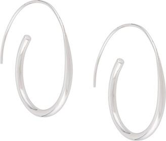 BAR JEWELLERY Arc hoop earrings