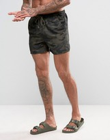 French Connection Swim Short in Camo Print