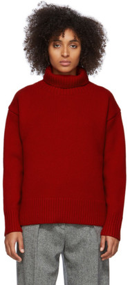 Rag & Bone Red Wool Lunet Turtleneck