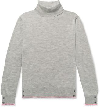 Thom Browne Grosgrain-Trimmed Cashmere Rollneck Sweater