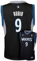 adidas Boys 8-20 Minnesota Timberwolves Ricky Rubio Black NBA Jersey