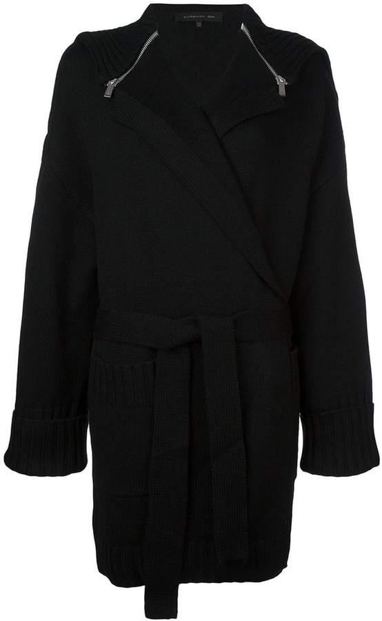 Barbara Bui zipped cape belted cardigan