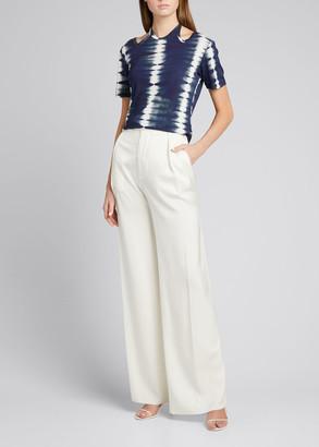 Dion Lee Tie-Dye Cutout Halter-Neck Shirt