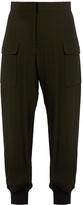Marni Contrast-cuff crepe cargo trousers
