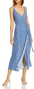 French Connection Verona Printed Faux-Wrap Dress