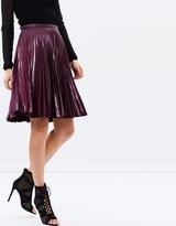 Karen Millen Wetlook Pleat Skirt