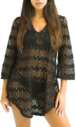 Jordan Taylor Women's Beachwear Shirttail Tunic Cover Up