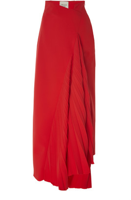 A.W.A.K.E. Mode Pleated Maxi Skirt