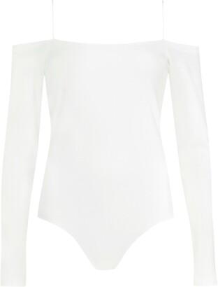 AllSaints Audery Cold Shoulder Long Sleeve Bodysuit