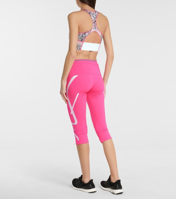 Thumbnail for your product : adidas by Stella McCartney TruePurpose printed crop top