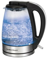 Hamilton Beach 1.7 Liter Illuminated Glass Kettle- 40865