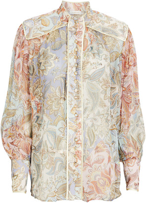 Zimmermann Lucky Bound Floral Paisley Blouse