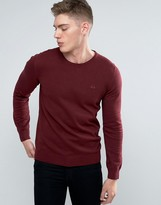 Lindbergh Sweater In Burgundy Cotton