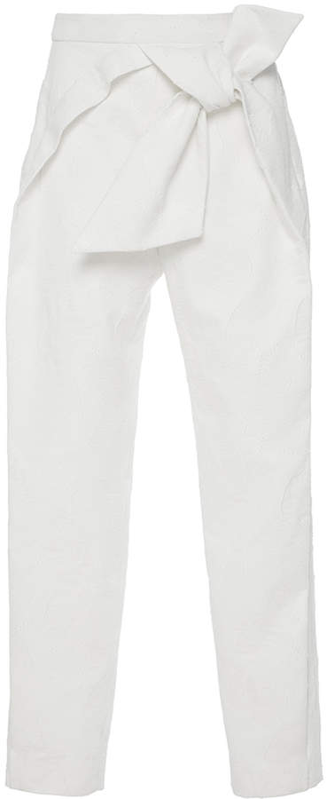 DELPOZO Tapered Bow Pant