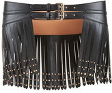 BCBGMAXAZRIA Studded Fringed Waist Belt