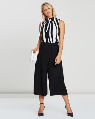 Privilege Women's Black Cropped Pants - Wrap Front Culottes - Size One Size, 10 at The Iconic