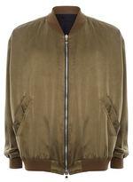 Balmain Satin Bomber Jacket
