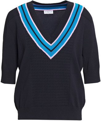 Claudie Pierlot Striped Cable-knit Sweater